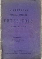 A Mezőtúri Reformált Gymnasium Értesítője az 1880-81.tanévről