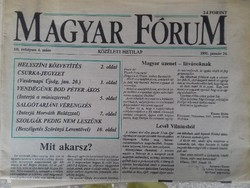 Magyar Fórum közéleti hetilap 1991.január 24-i példány