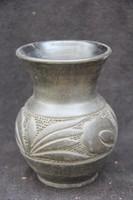 Korondi fekete kerámia váza