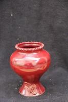 Vörös mázas kerámia váza