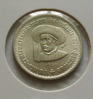 Gyönyörű portugál ezüst 5 escudos 1969.