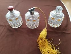 Antik Überfang  parfümös üveg szett.