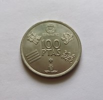 Hatalmas spanyol 100 pezeta  1980 unc.