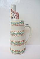 Kézzel festett porcelán kancsó