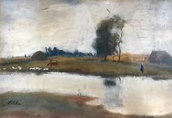 Szüle Péter (1886-1944): Alföldi táj