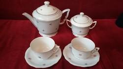 Zsolnay apróvirágos aranyozott manófüles teás készlet - 2 személyes - RITKA !