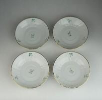 0R308 Virágmintás Herendi porcelán kistányér 4 db