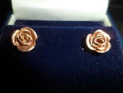 14K arany rózsa fülbevaló