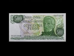 UNC - 500 PESO - ARGENTÍNA - RITKA ÉS SZÉP