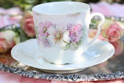 Antik vadrózsás csésze + alátét