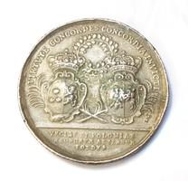 XII.Károly és I.Szaniszló 1704-es emlékérme kópia.