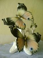 Giga méretű  KARL ENS  porcelán pillangó pár jelzett