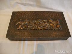 Iparművész fémműves bronz doboz