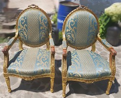 Louis XVI stílusú antik fotel, karosszék