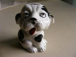 Régi  W&A mini porcelán kutya fogpiszkáló tartó