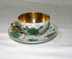 Zsolnay kávéscsésze aljával