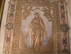 E10 Jesus am oelberg dús aranyozással üveglapos ritkaság fa táblán 1800-as évek eleje