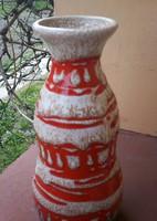 Retro, iparművész kerámia váza, 26 cm