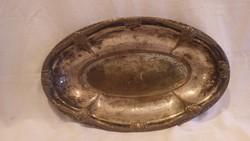 Argentor , egykor ezüstözött antik réz kínáló tál