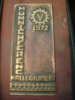 1972 Münich Ferenc collégium bronz plakett dobozában /12/