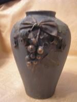 Bronzosított szecessziós gyönyörű váza ritkaság 20 cm-es