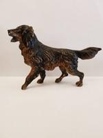 Festett antik bécsi bronz gordon szetter kutya wiener bronze figura