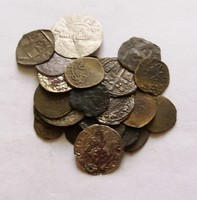 Középkori érme lot. 32 darab.