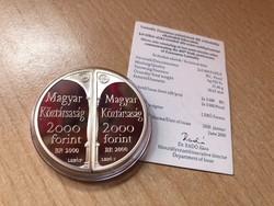 Lórántffy ezüst 2x2000 FT 31,46 gramm 0,925 PP R