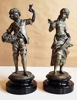 Francia ón szobor pár