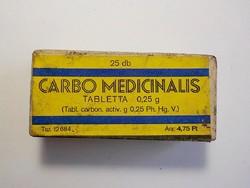 Carbo Medicinalis doboz , orvos , patikus
