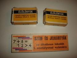 TANÉRT-élőlények képkártya,szám és jelkártya