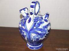 Delft stílusú kerámia korsó,váza