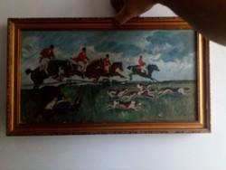Vadász jelenetes festmény