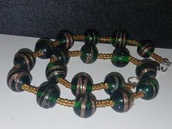 Muránói üveg  gyöngysor.