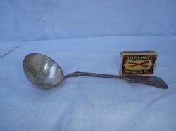 Merőkanál - ezüstözött - nagyon régi  20 x 6 cm