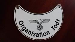 Todt Organization Zománcozott Fém Lemez