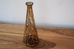 Art deco festett pöttyös üveg palack kiöntő