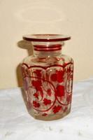 Biedermeier metszett-csiszolt üveg
