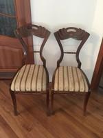 2db antik Biedermeier szék (rózsás huzattal)
