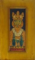 0S077 István király rézlemez dombormű 34 x 30cm