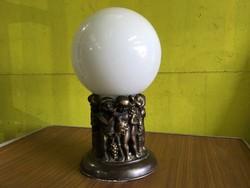 Nagyméretű art deco bronz lámpa
