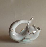 Retro hal  porcelán ritka színben