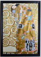 Gustav Klimt reprodukció fa keretben, üvegezve 56x76cm