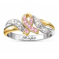 Rózsaszín-fehér zafír köves gyűrű 6,5-ös  ÚJ!