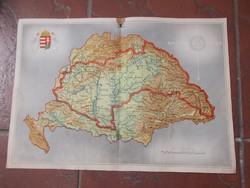 Régi eredeti nagy magyarország térkép 1941