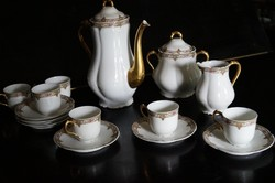 Teás - kévés készlet 6- személyes Francia Limoges