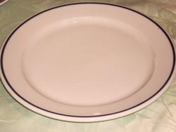 Retro kék csíkos tányér  24 cm