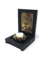 Buddha fej mécsestartó