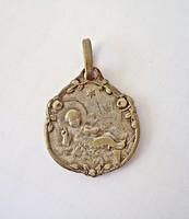 Régi ezüstözött Jeruzsálemi medál
