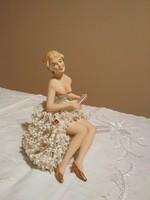 Csipke porcelán balerina